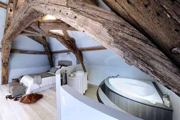 Estilo rustico vigas bajo techos rusticos - Techos rusticos interiores ...
