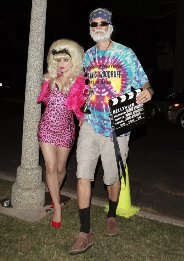 Fergie and Josh Duhamel are experts in costume on Halloween