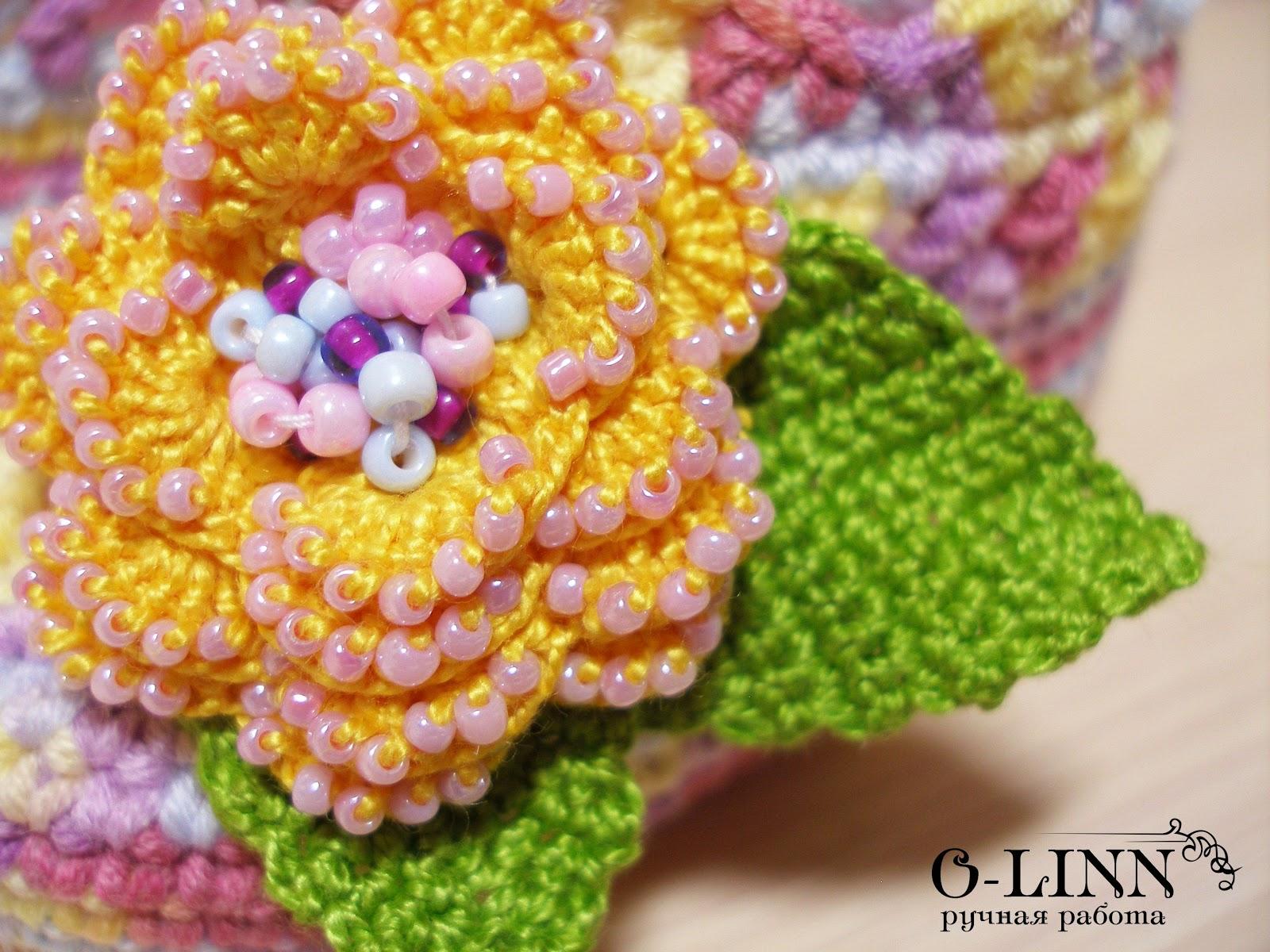 Цветок вязание бисер