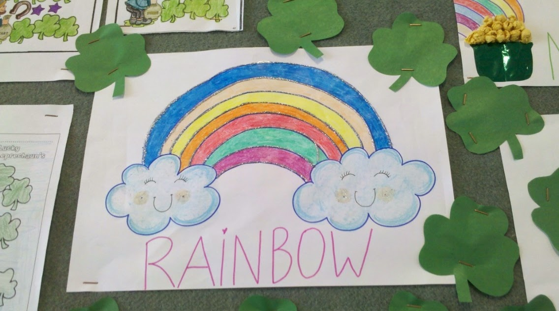 teacher st patrick's day musica arco iris rainbow