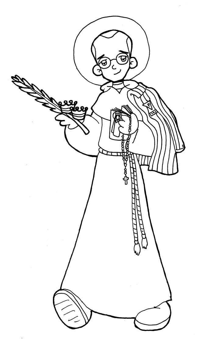 Dibujos para catequesis: SAN MAXIMILIANO KOLBE