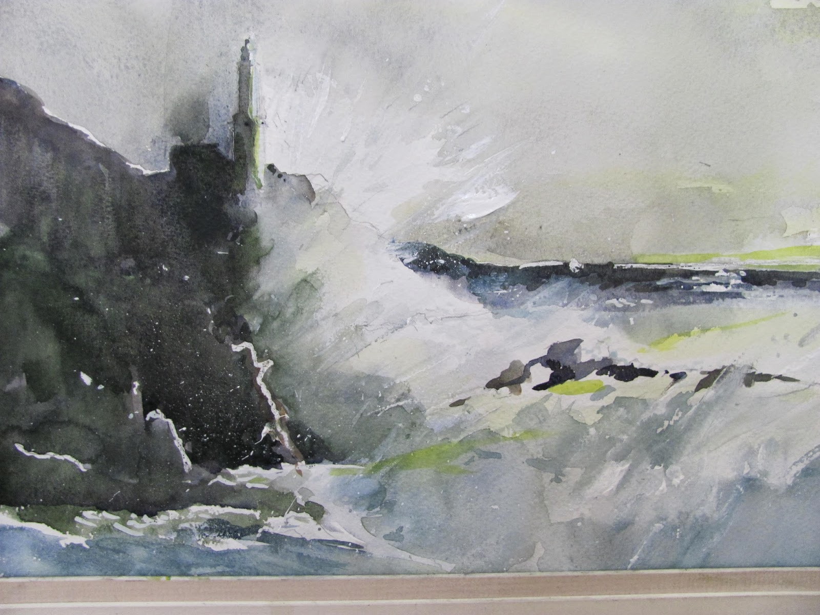 The watercolour log stormy day for Aquarelliste chinois