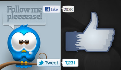 Facebook and Twitter Buttons