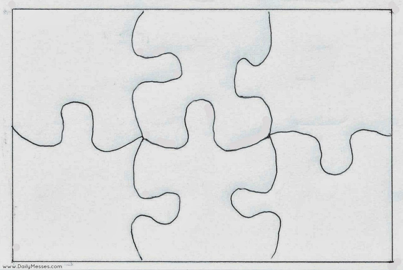 large blank puzzle pieces template - 8 piece jigsaw puzzle template
