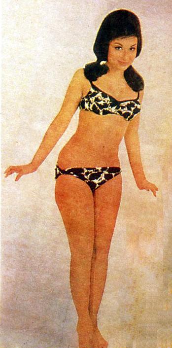 Hindi Movie Actress Sharmila Tagore In Bikini Filmfare Magazine