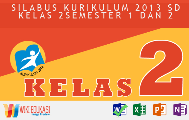 Silabus Integrasi KURIKULUM 2013 SD KELAS 2 Hasil Revisi Terbaru