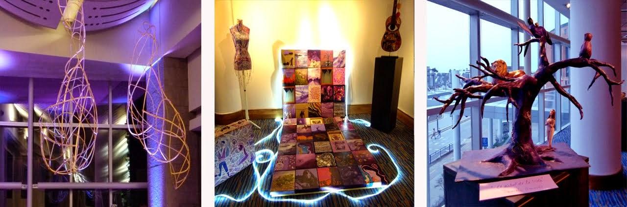 Exposición En tonos de Violeta