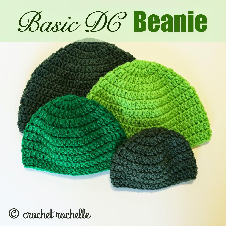Crochet Beanie Pattern Basic : Crochet Rochelle: Basic DC Beanie Pattern