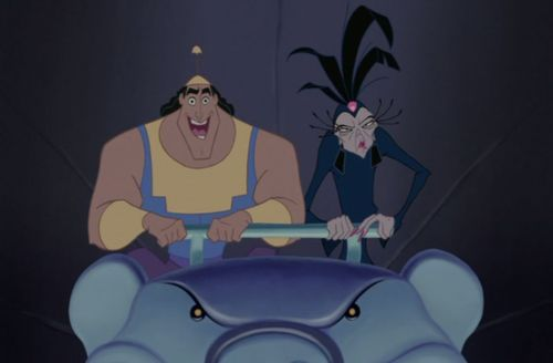Kronk Yzma The Emperor's New Groove 2000 animatedfilmreviews.blogspot.com