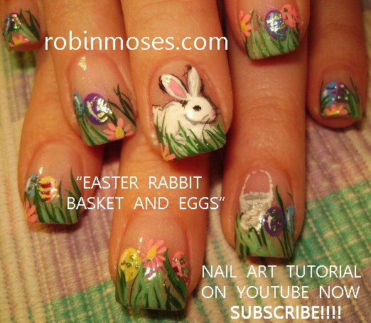White Rabbit Nail Easter Nail Art Nails For Easter Cute Bunny