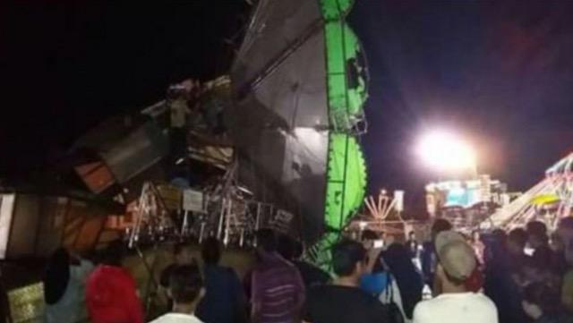 Kejadian ngeri buaian gergasi tumbang di fun fair Port Dickson Waterfront