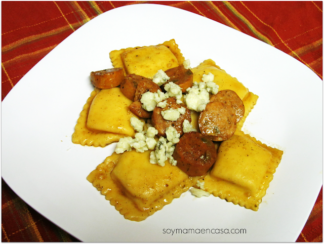 receta facil ravioli con salchicha italiana