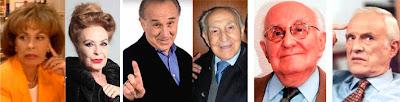 Gemma Cuervo, Pedro Peña, Carlos Ballesteros, Luis Barbero, abuelos
