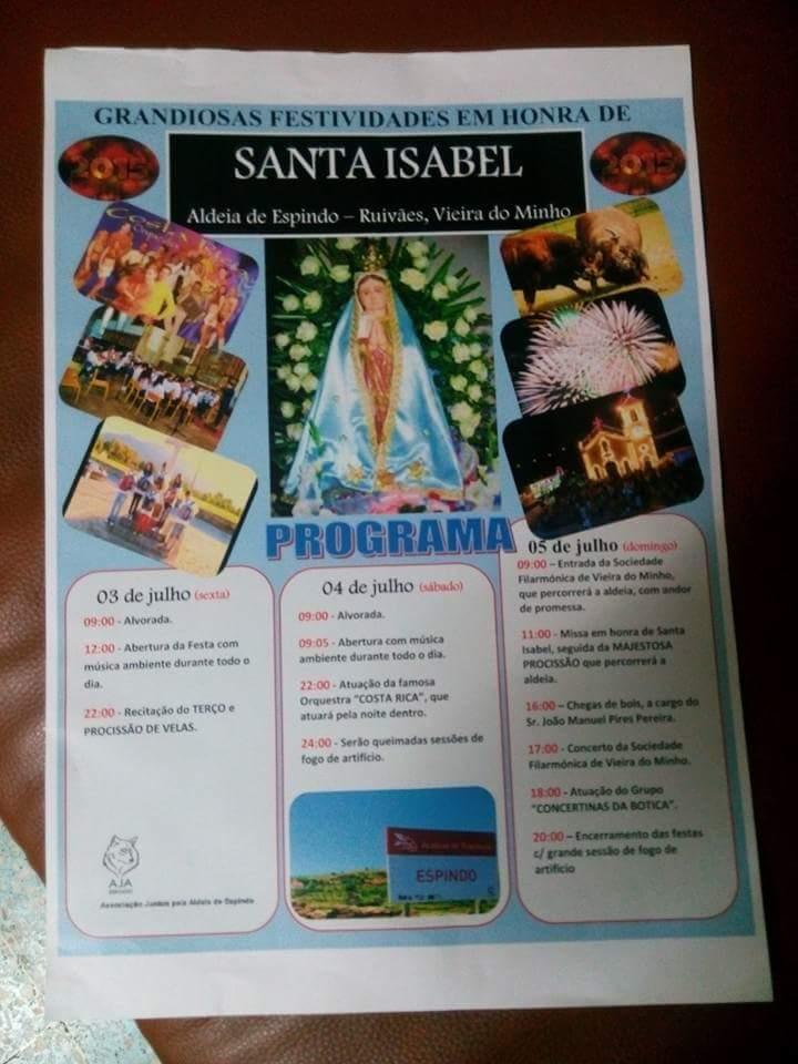 Festa de Santa Isabel - Espindo