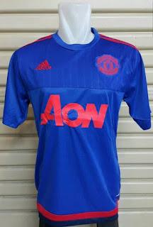 gambar photo terbaru Jersey training Manchester United warna biru terbaru musim 2015/2016 enkosa sport toko online jersey tepercaya lokasi di jakarta