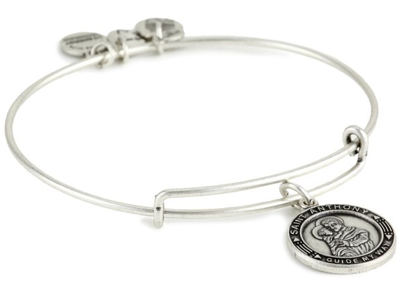 Alex and Ani St. Anthony Rafaelian Silver Finish Bracelet