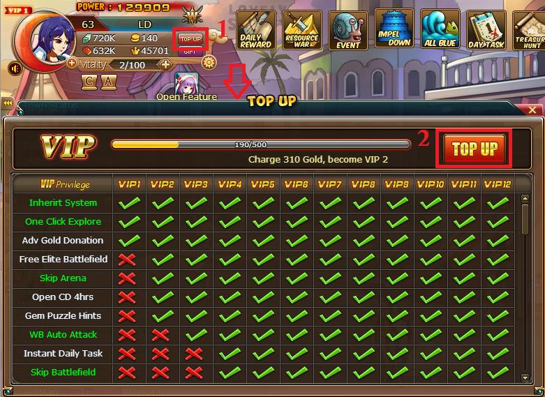 Cara Menjadi VIP di Game Pirate King Facebook