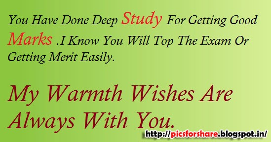 Pics For Share  Exam Best Wishes Cards