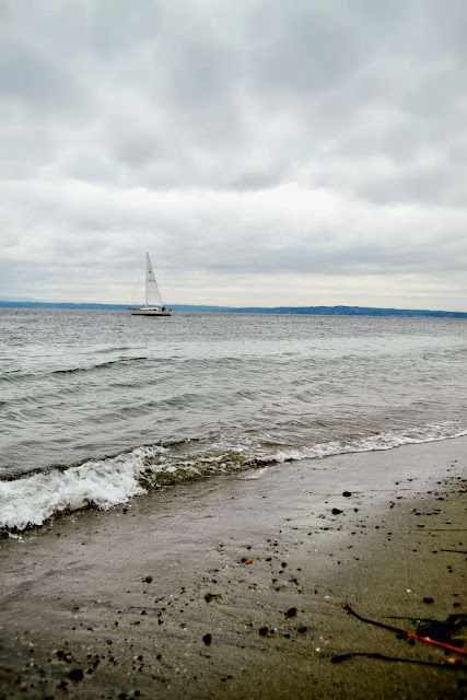 beach, sand, nautical, sailboat, Golden Gardens, Seattle