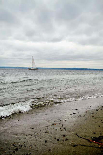 beach, sand, nautical, sailboat, Golden Gardens, Seattle