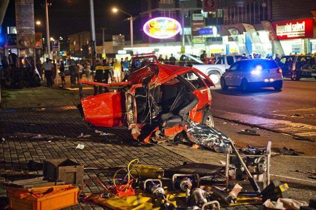 Alex Caige Voortrekker Road Drag Racing Accident Pictures