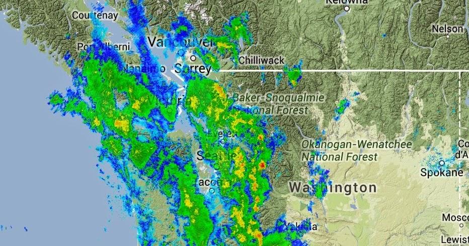 Radar Tiff Thunderstorms Showers Week Puget Sound