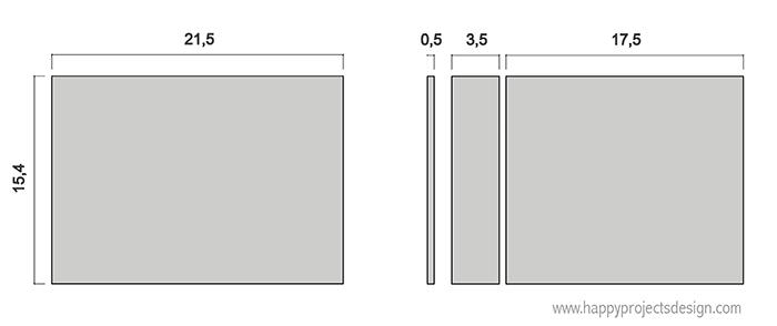 encuadernación japonesa DIY: esquema cartón