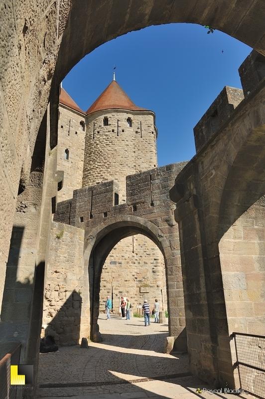 L'entrée de Carcassonne, le système de défense photo blachier pascal