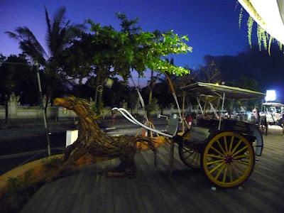 Horse Carriage Art at Kuta Bali