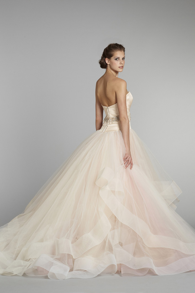 Lazaro blush wedding dresses