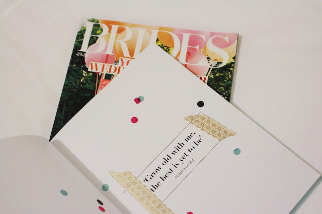 brides magazine and my little wedding book