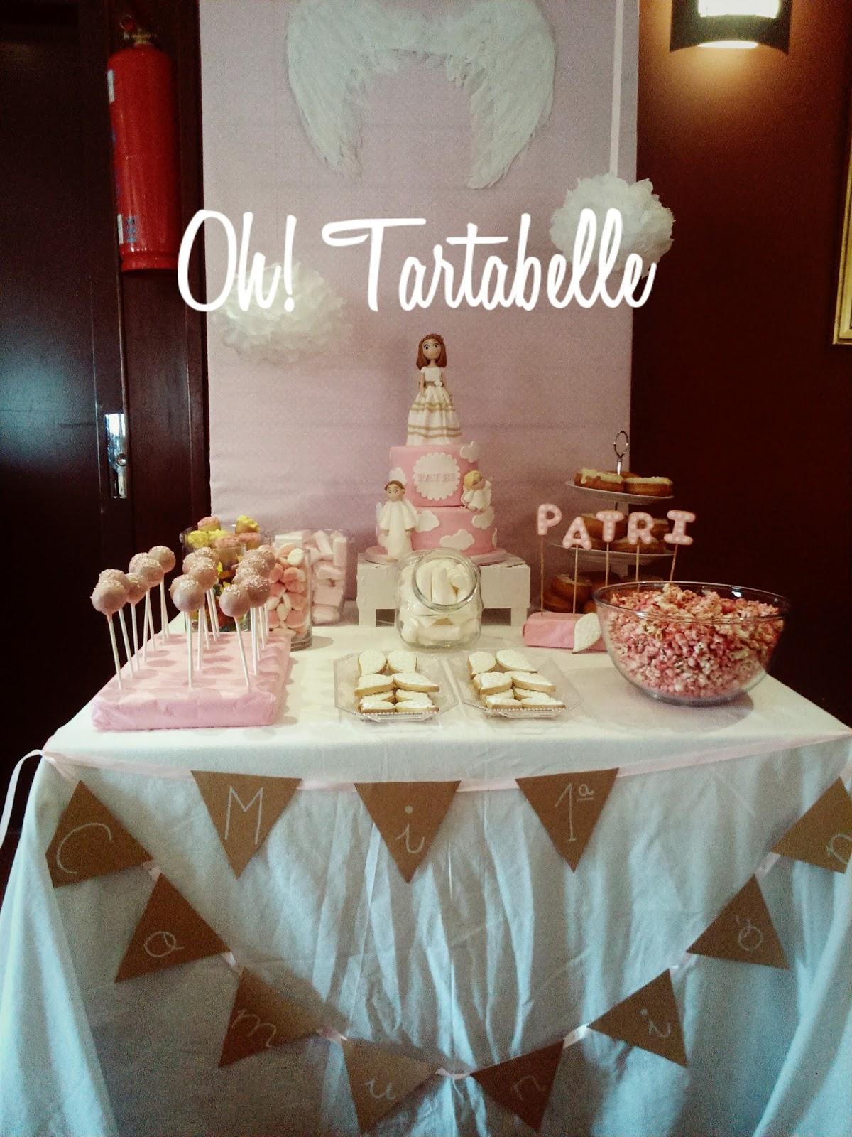 Oh tartabelle mesas dulces y tartas para comuniones - Adornos mesa comunion ...