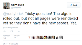 Twitter gary Illyes tentang  mobilegeddon