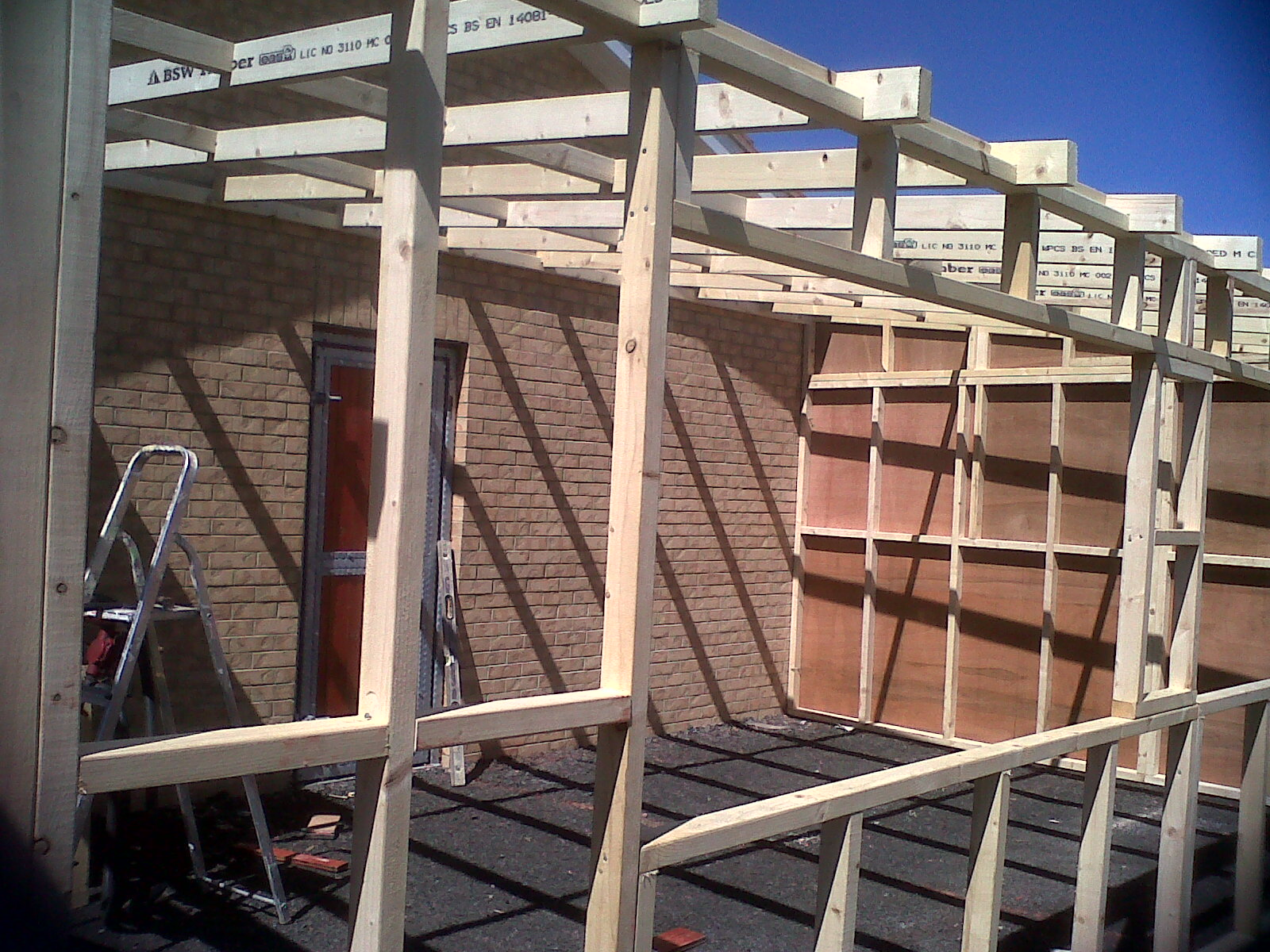 Dw Joinery Services Double Timber Framed Lean To