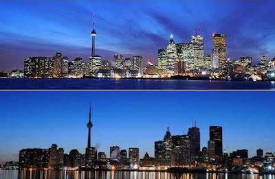 Toronto, Canadá, durante a Hora do Planeta