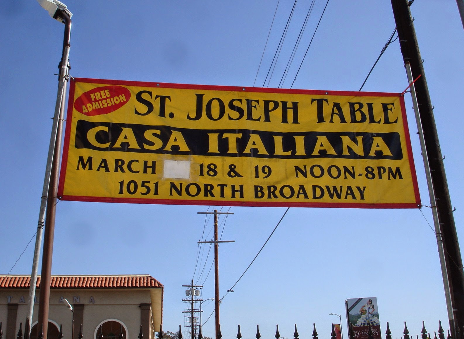 Follow my bliss st joseph 39 s day feast los angeles - La casa italiana ...