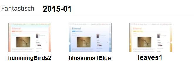 Fantastisch-Varianten 2015/01: hummingBirds2, blossoms1Blue, leaves1