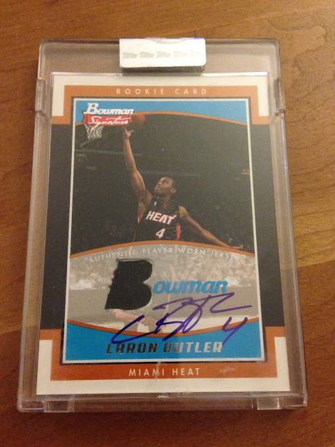 Caron Butler rookie autograph auto gu poa jersey card free sweepstakes Miami heat Sacramento kings NBA