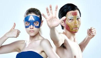 masker iron man dan captain america