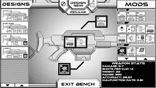 Rogue Invader, un 'roguelike' espacial con gráficos 1-bit, lo intenta ahora en Kickstarter