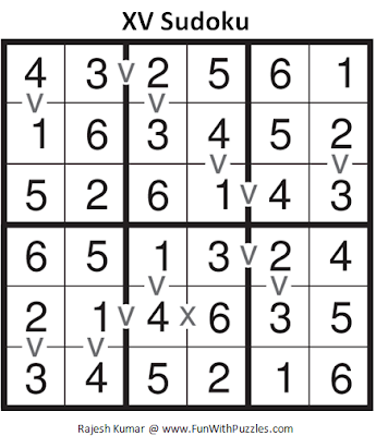 Mini XV Sudoku (Mini Sudoku Series #56) Answer