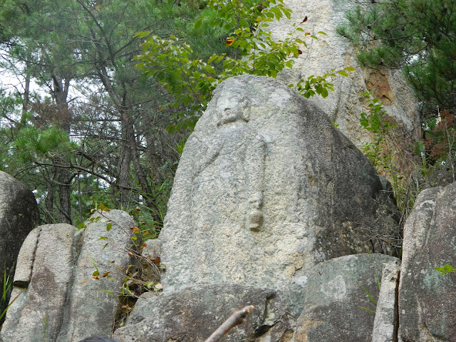 Carving of Buddha in Gyeongju, Korea