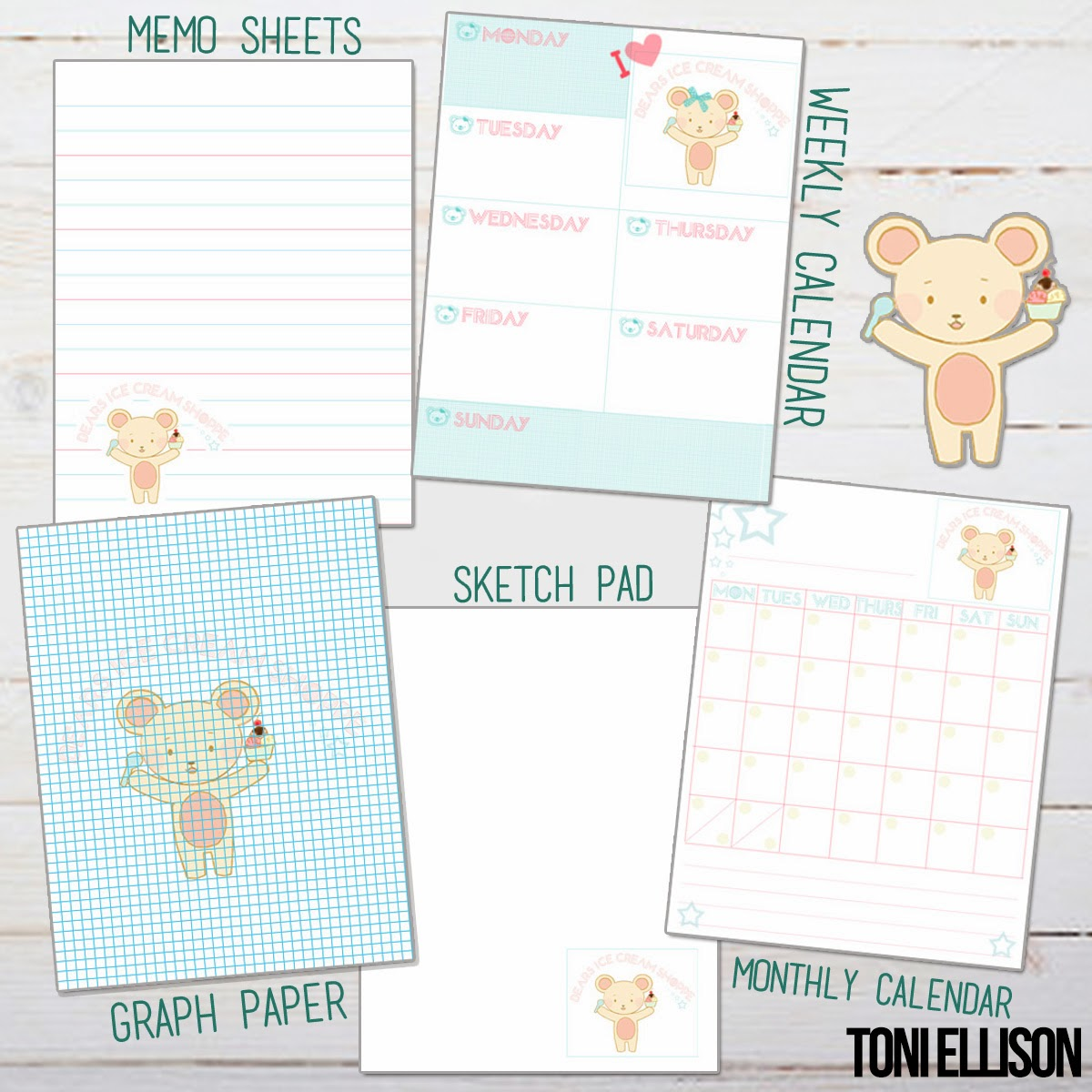 Toni ellison agenda planner stationery diy how to for Build your own planner