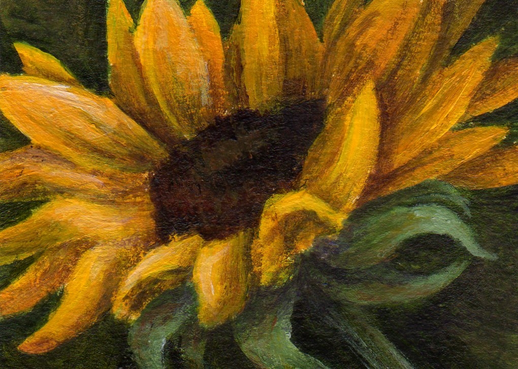 ACEO Etsy Street Team: Original Sunflower Painting by ...