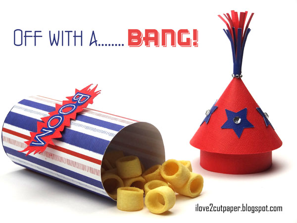 Firecracker gift box for fourth of July
