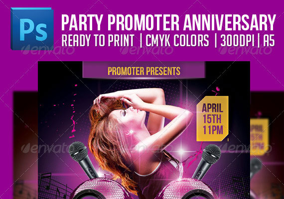 Exciting Party Flyers Design
