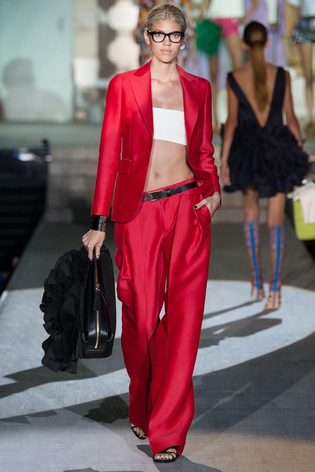 DSquared2 / Spring/Summer 2015 trends / trouser suit / styling tips and outfit inspiration / via fashioned by love british fashion blog