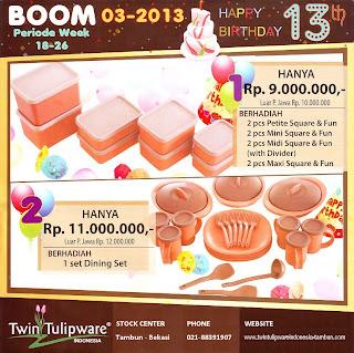 BOOM Tulipware | Mei - Juni 2013