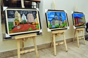 Exposição naif no sindicato dos comerciarios da cidade de são paulo artista plastico sinval medeiro