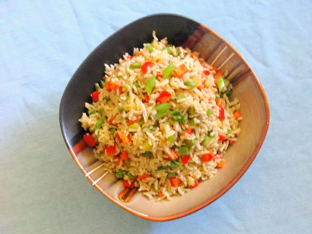 ... Vegetable Fried Rice / Brown Rice with Stir Fried Vegetables | Indian